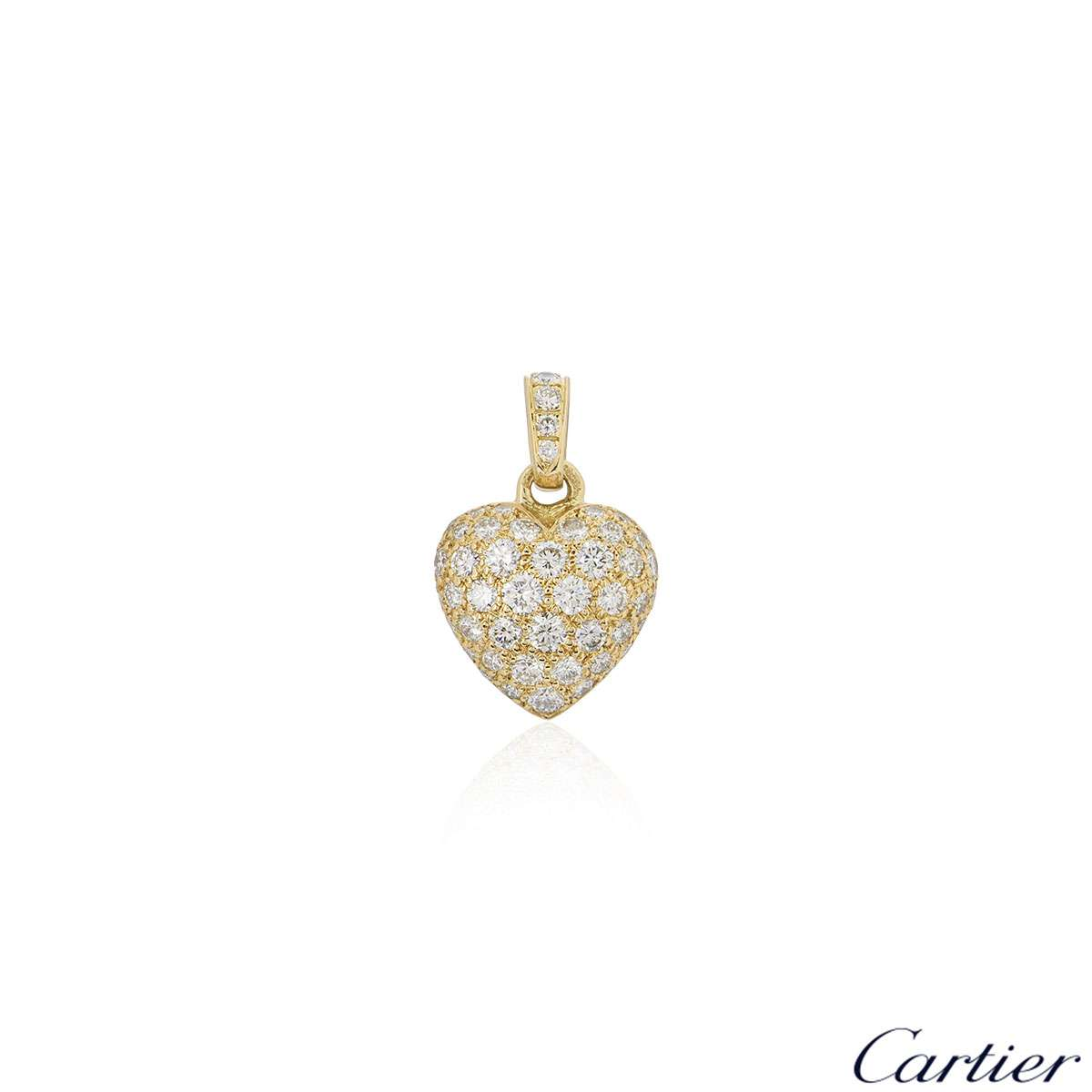 Cartier Yellow Gold Diamond Heart Charm